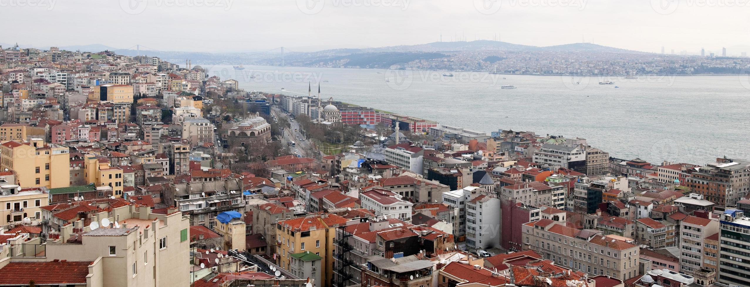 panorama van istanbul foto