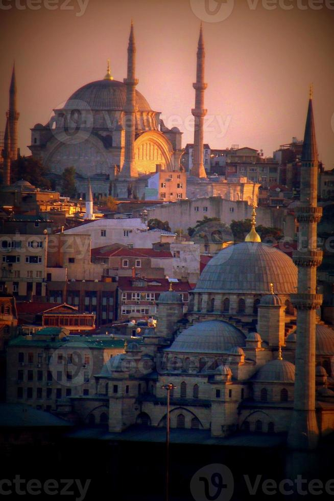 skyline van istanbul foto