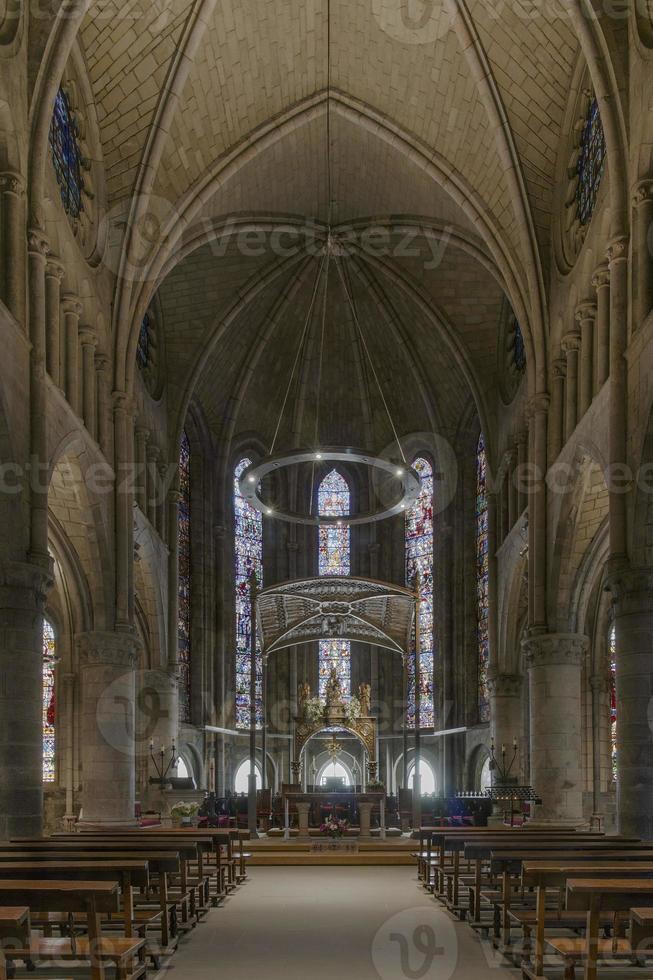 Koninklijke collegiale kerk van Santa Maria, Roncesvalles. Spanje. foto