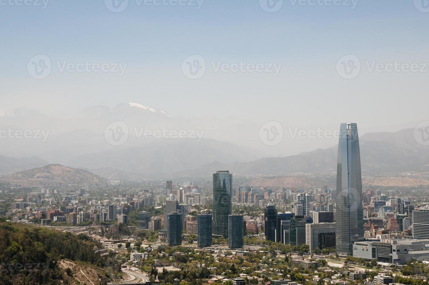het stadscentrum van Santiago - Chili foto