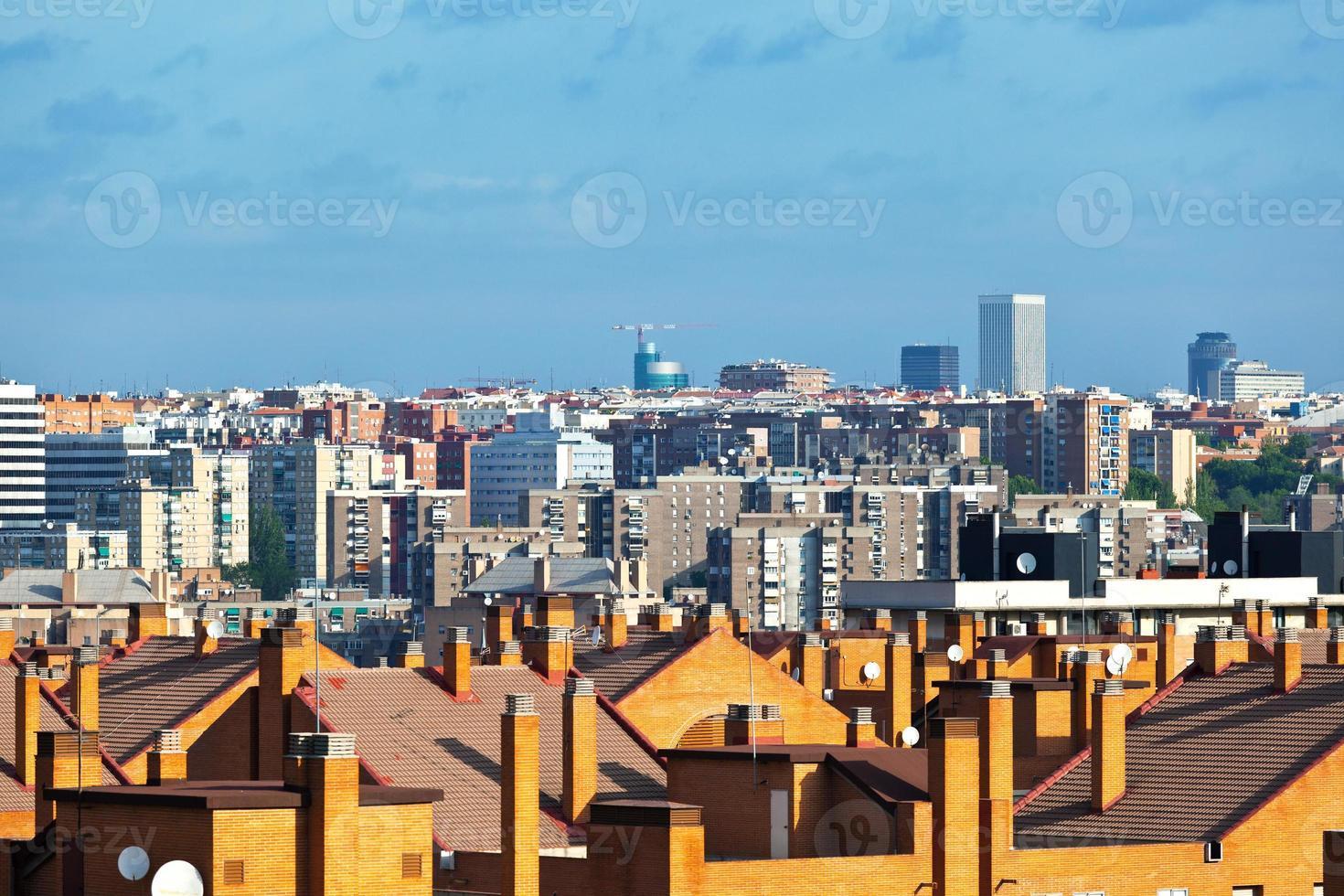 skyline van madrid foto