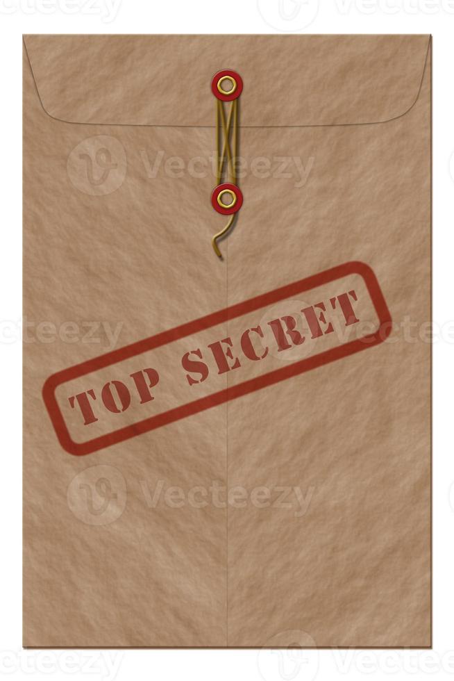 zeer geheime envelop foto