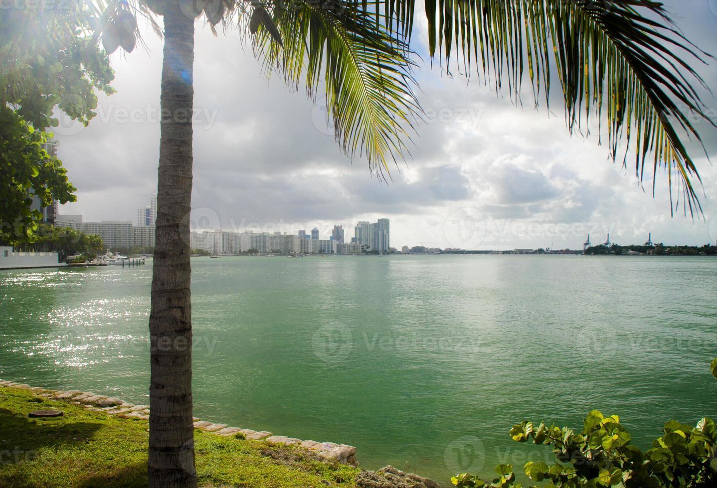 Miami uitzicht op het strand foto