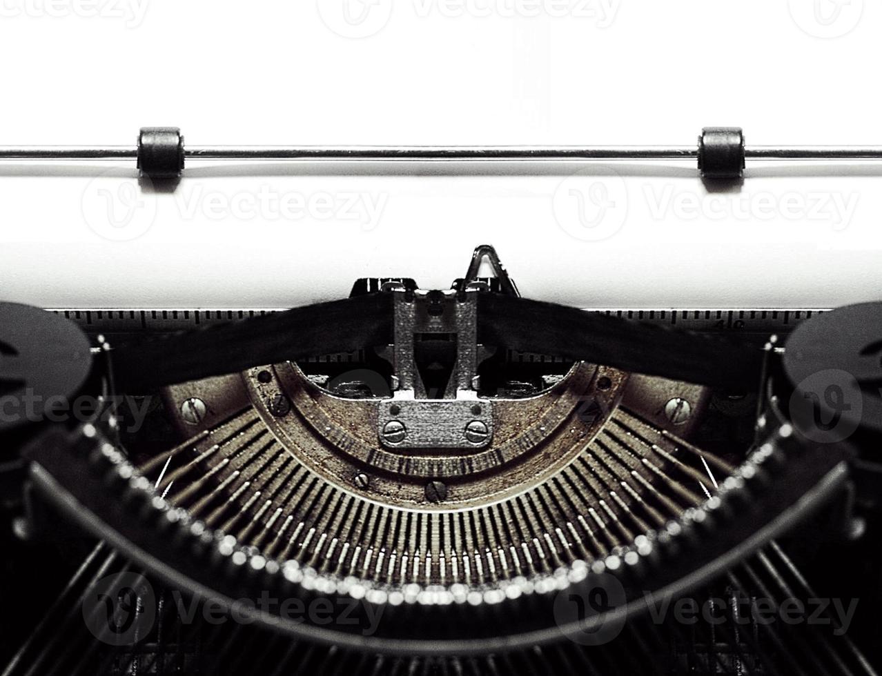 antieke typemachine foto