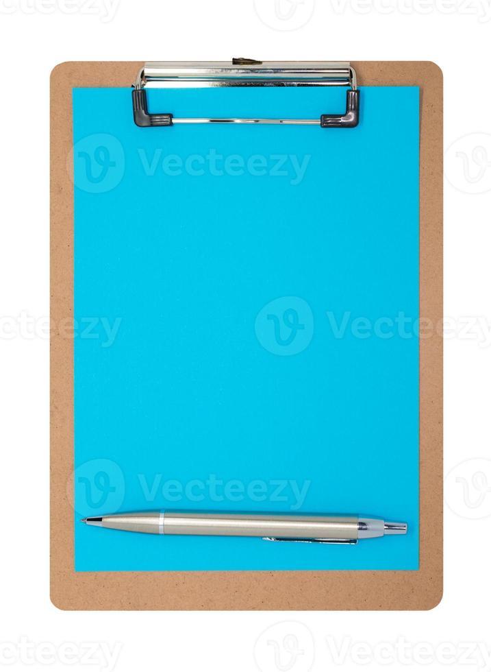 klembord - effen blauw foto
