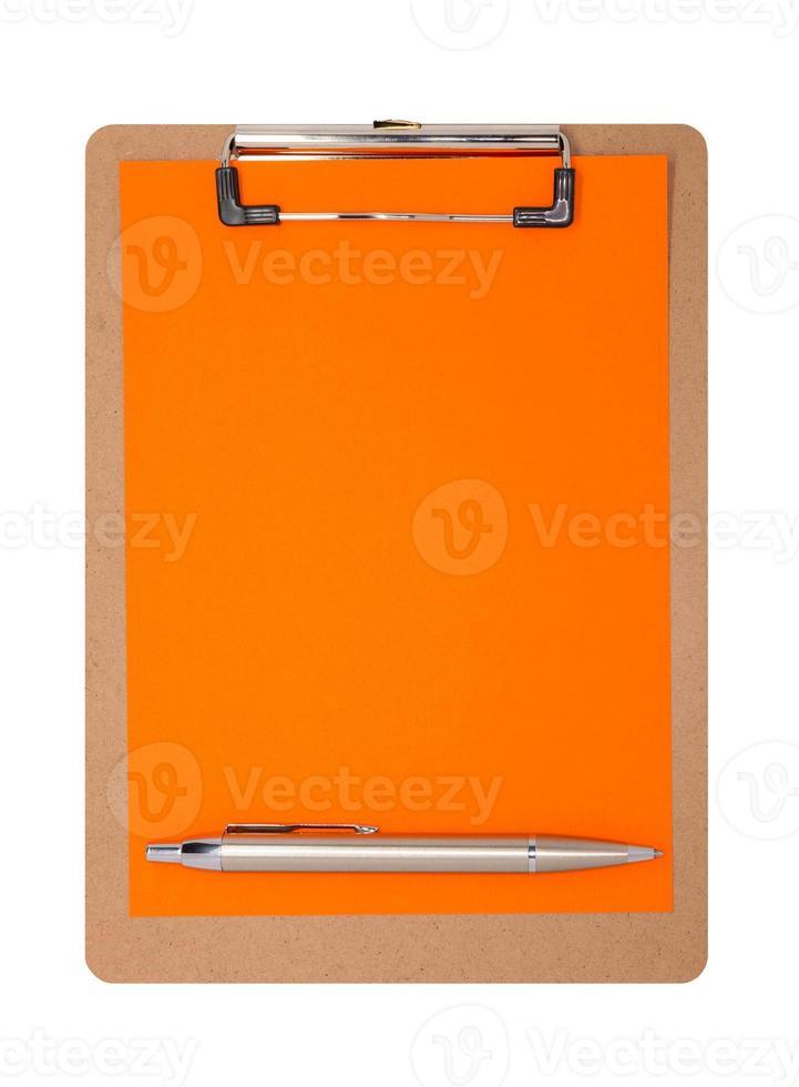 klembord - gewoon oranje foto