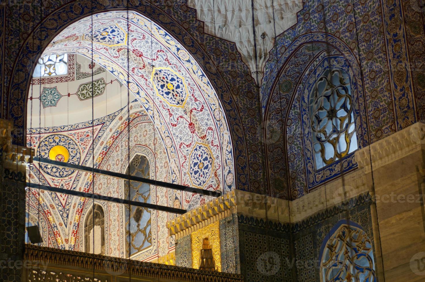 moskee interieur, detail, istanbul, turkije foto