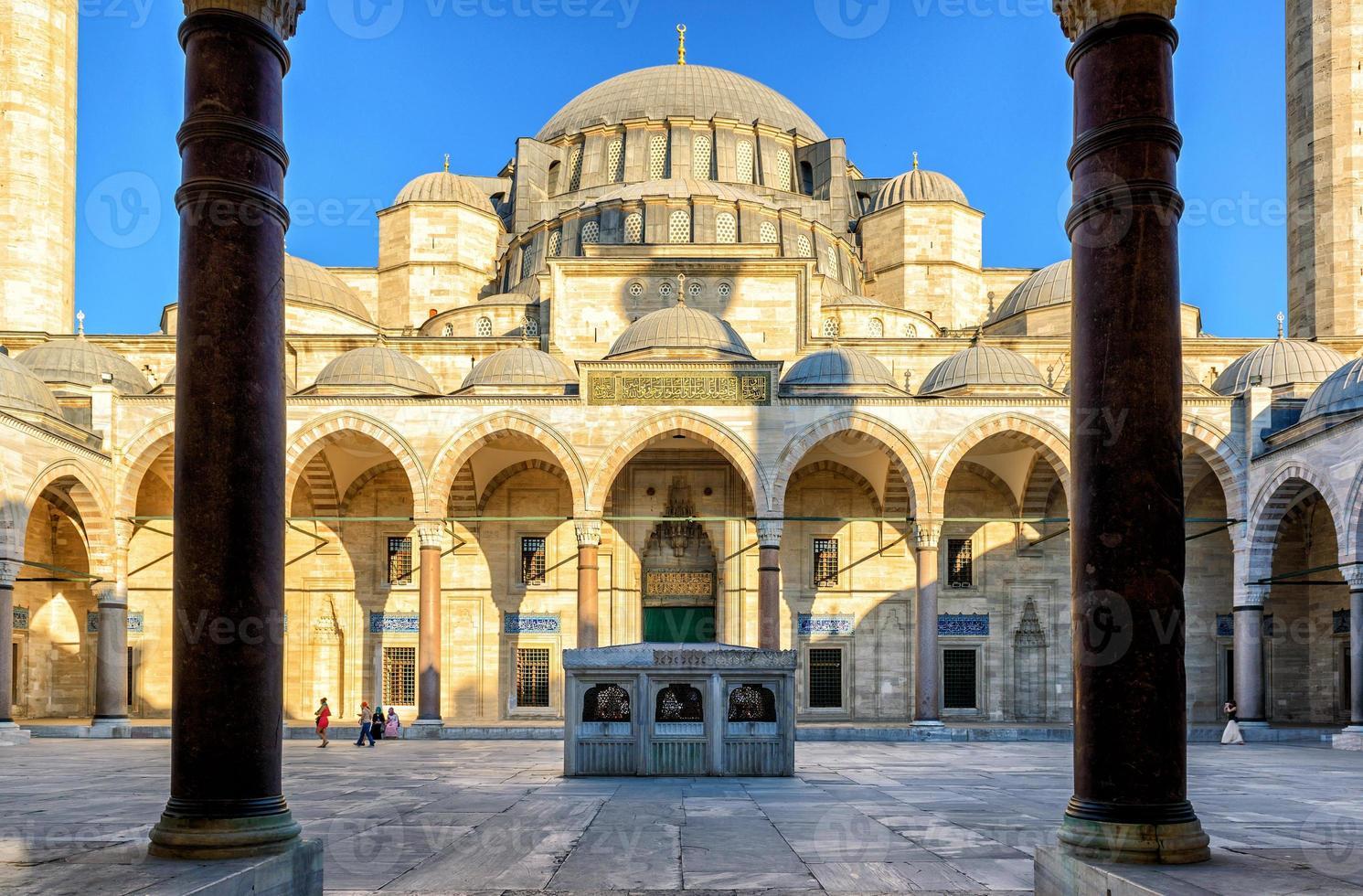 suleymaniye moskee in istanbul, turkije foto