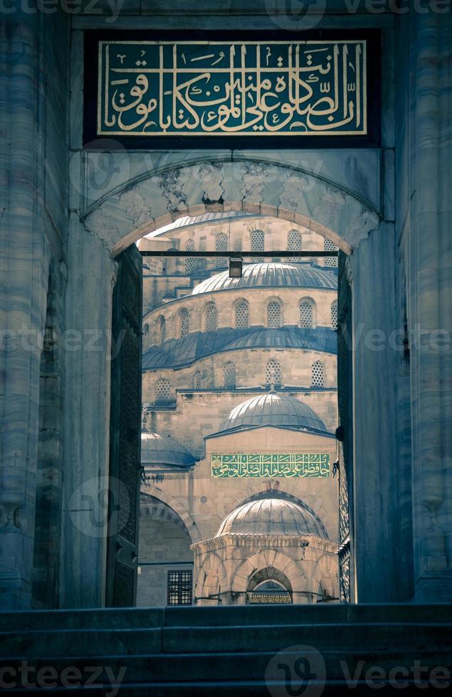 blauwe moskee / istanbul / kalkoen / split toning foto
