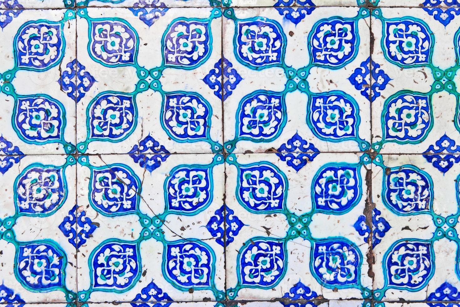 Turkse blauwe tegel foto