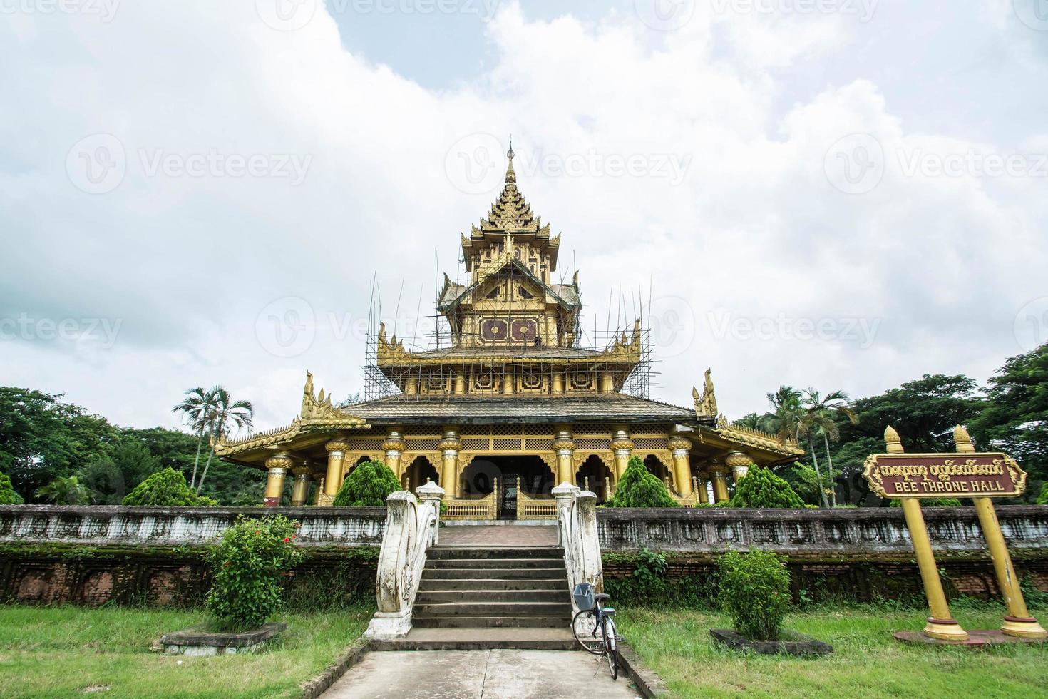 kambawzathardi gouden paleis in bago van myanmar, foto