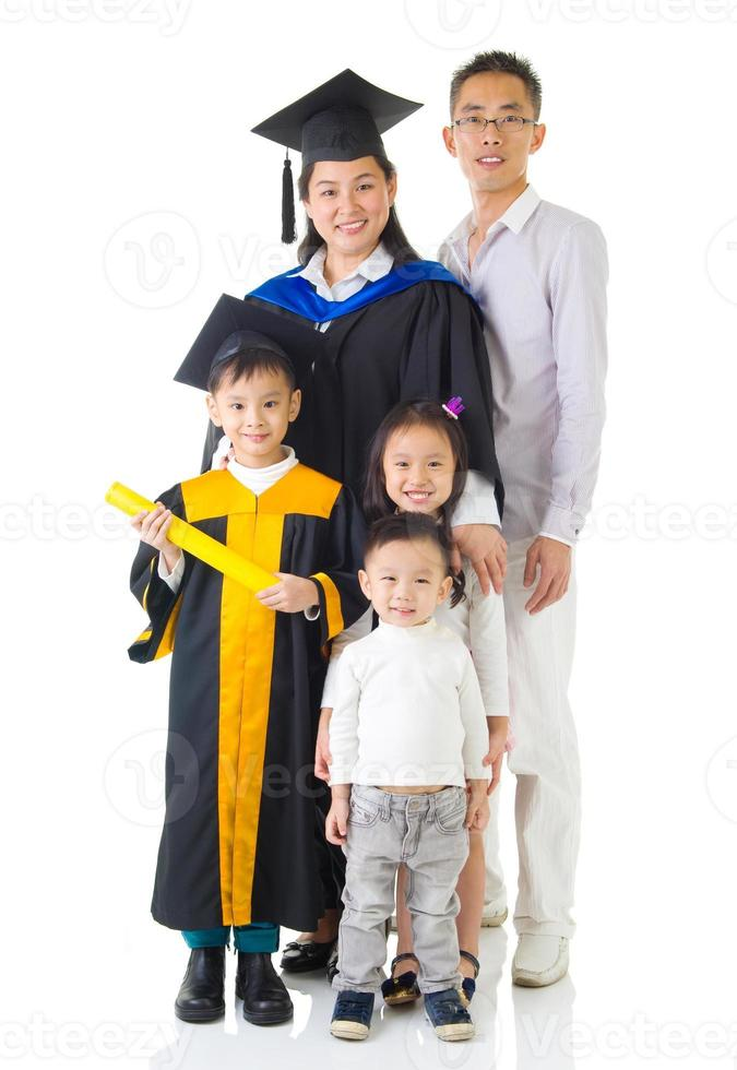 Aziatische familie foto