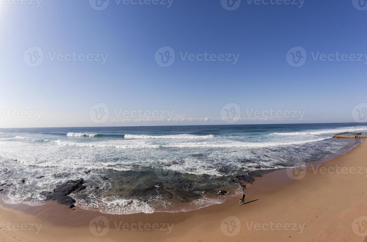 strand horizon oceaan familie foto