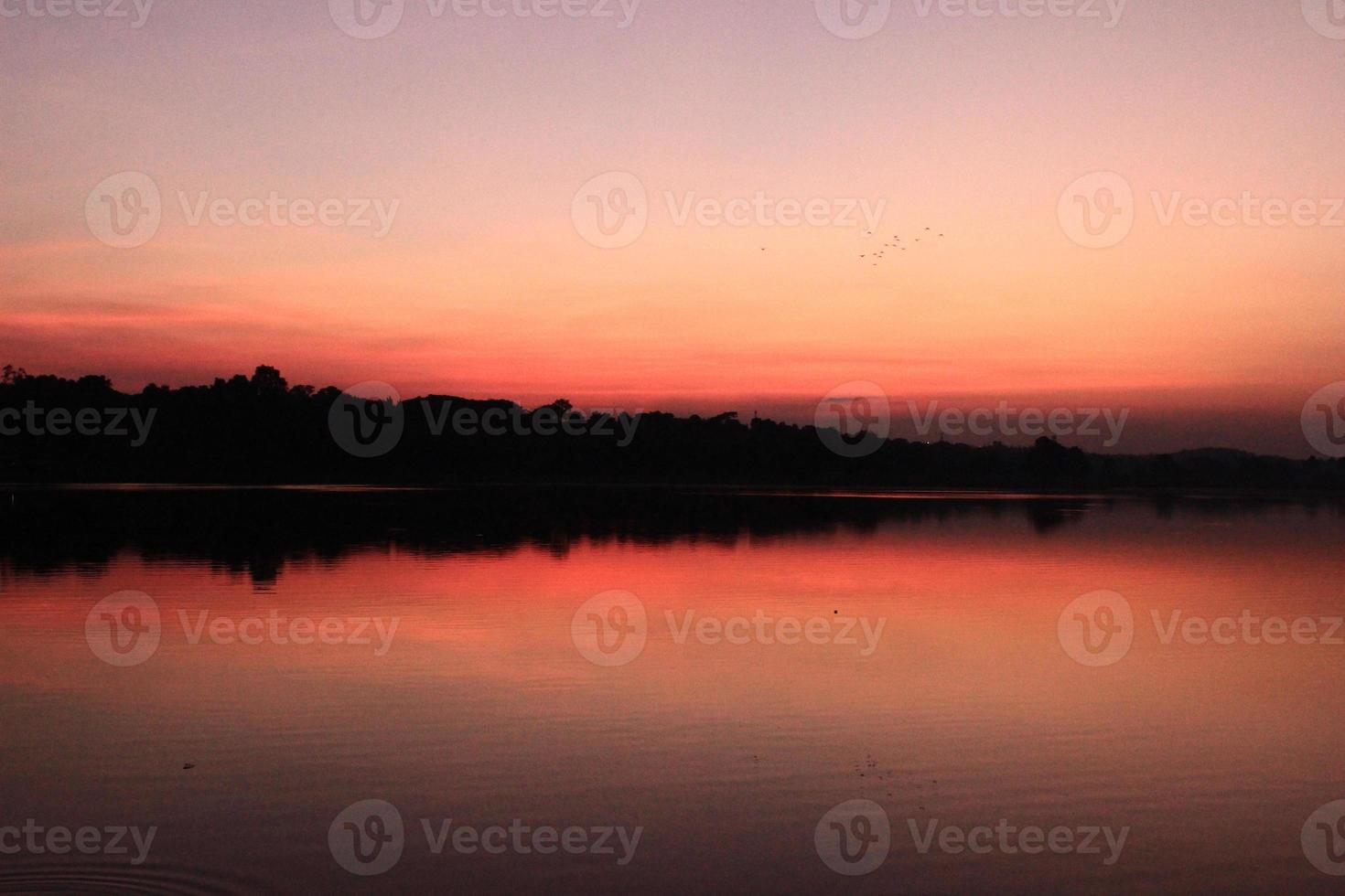 geweldige zonsondergang foto