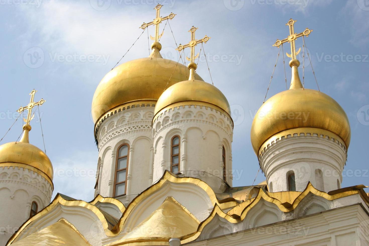 koepels van de kerk van de aankondiging foto
