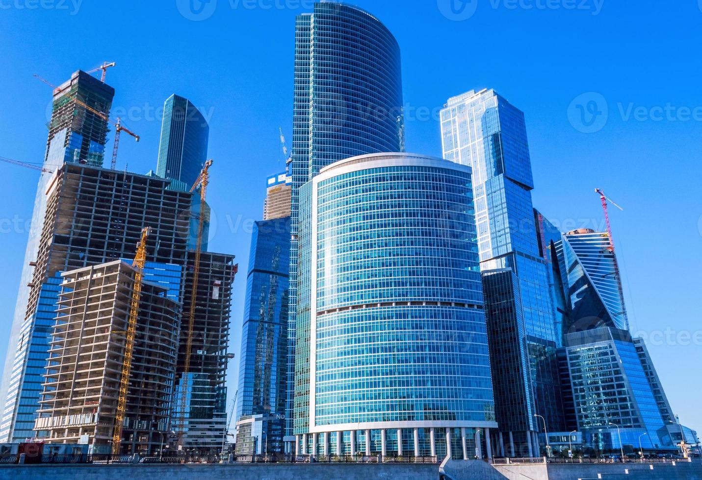 wolkenkrabbers van zakencentrum in Moskou foto