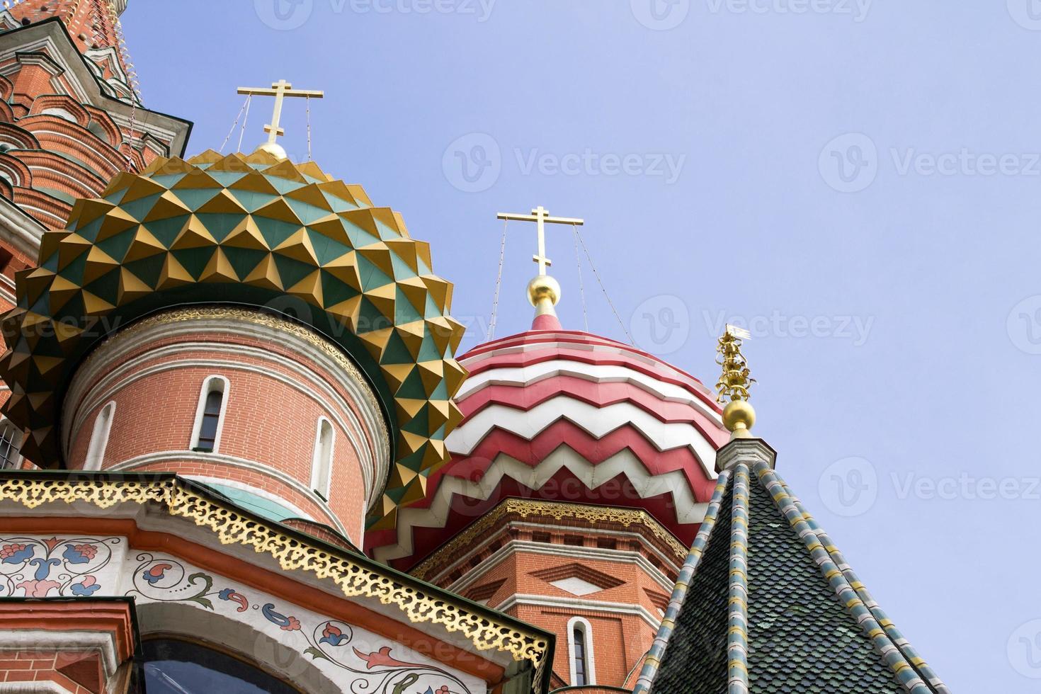 st basils kathedraal op het Rode plein in Moskou, Rusland foto