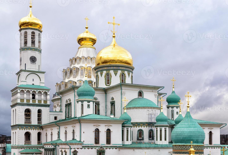 het nieuwe Jeruzalem klooster in Istra, Rusland foto