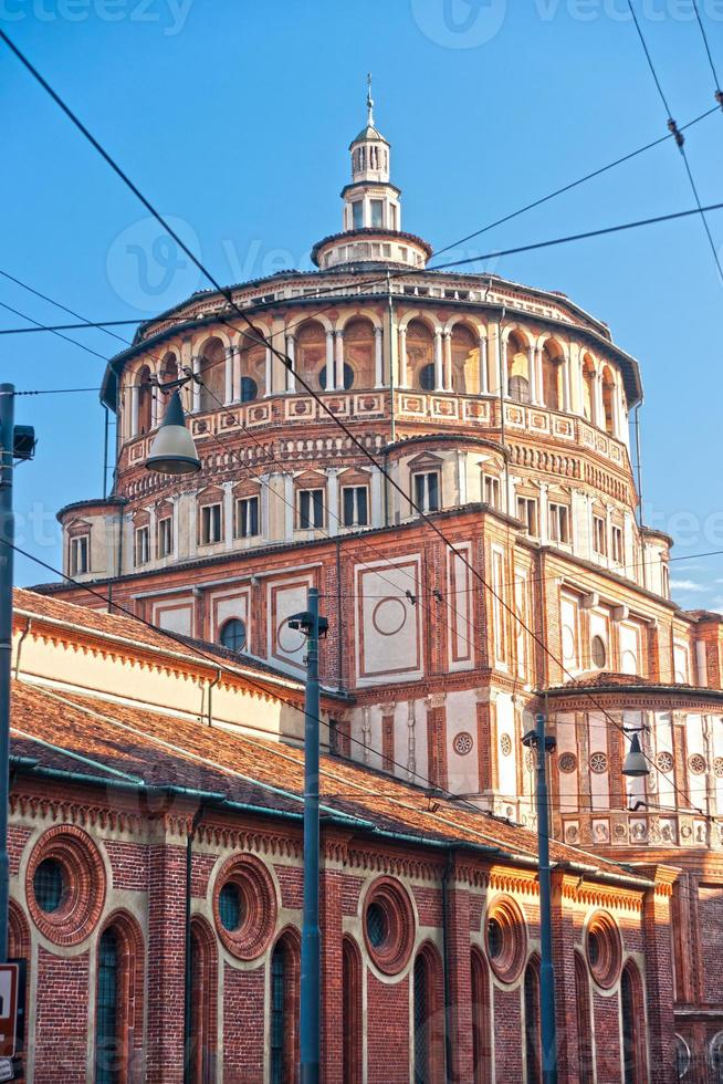 kerk van santa maria delle grazie, milaan, italië, foto