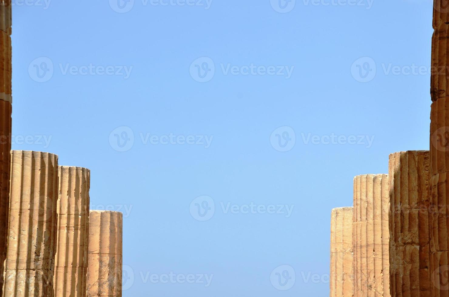 parthenon Athene, kolommen foto