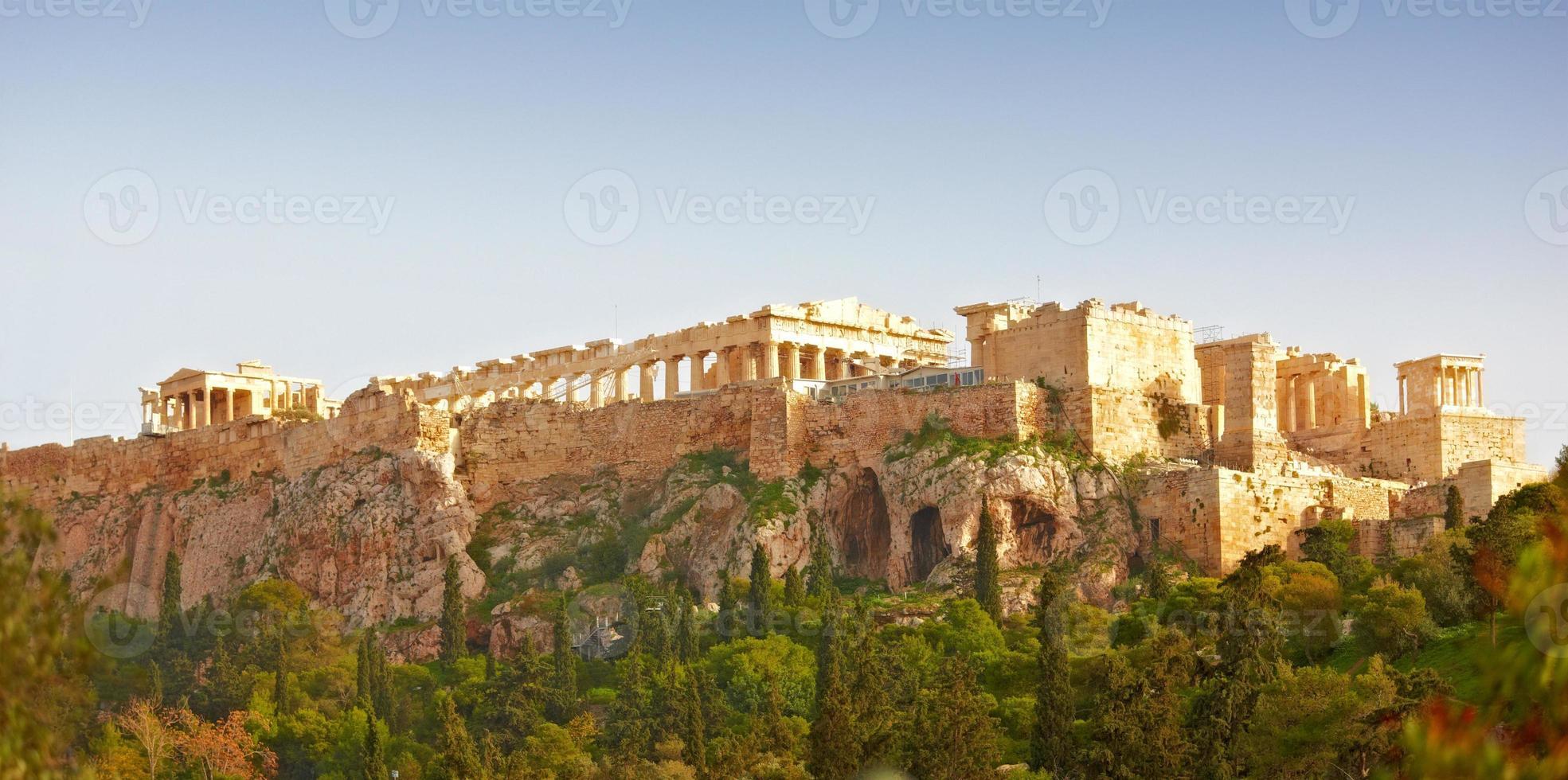 parthenon, de acropolis van athene foto