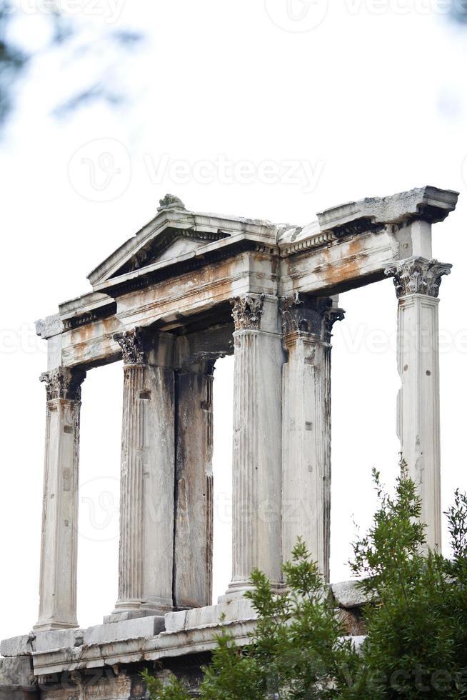 Hadrianusboog bij de Olympische Zeuspoort, Athene foto