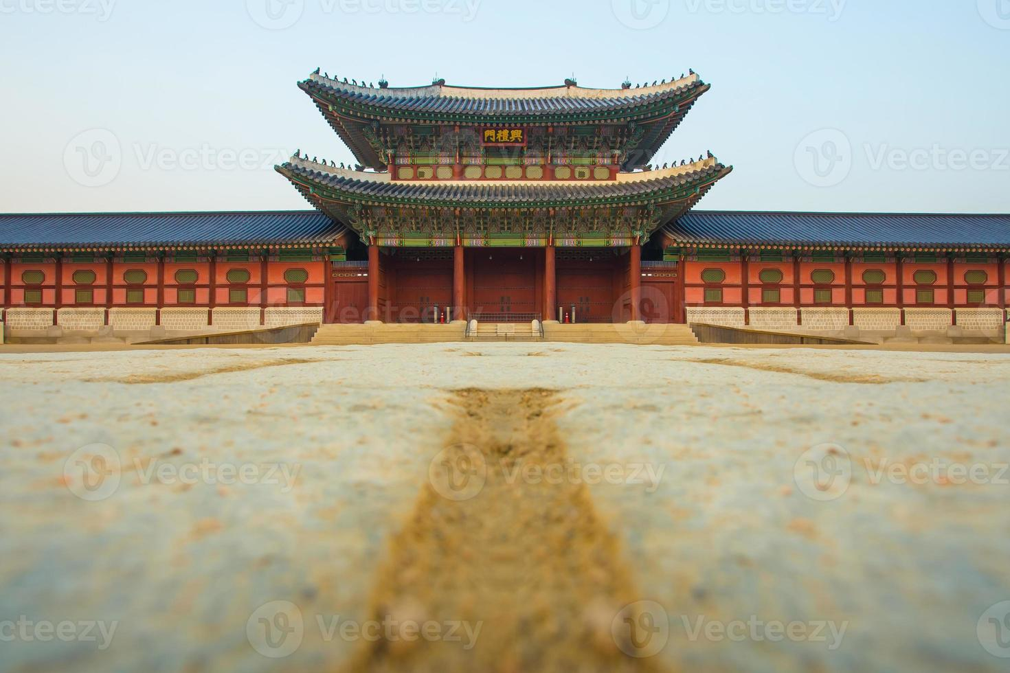 gyeongbokgung paleis in seoel, zuid-korea foto