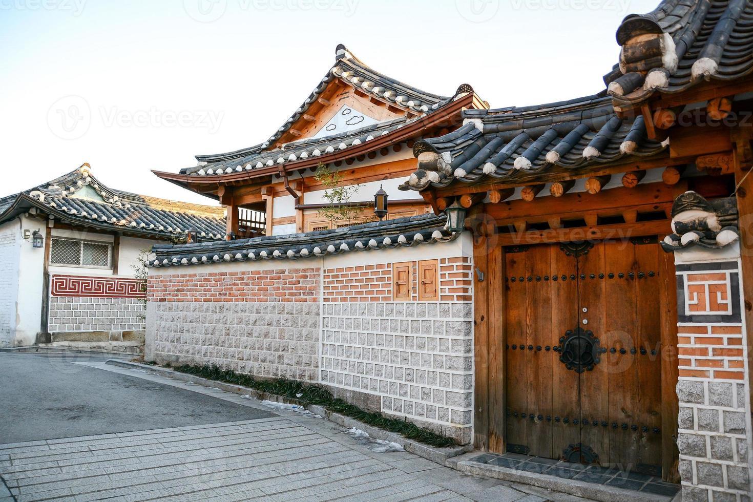 Bukchon Hanok dorp in Seoel, Zuid-Korea foto