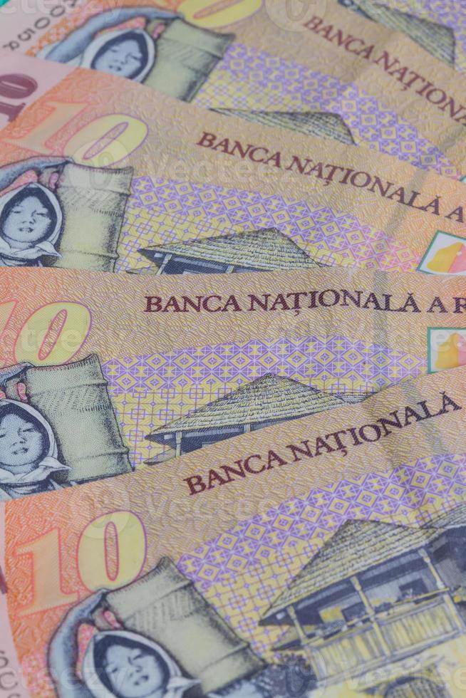 verschillende Roemeense leibankbiljetten foto