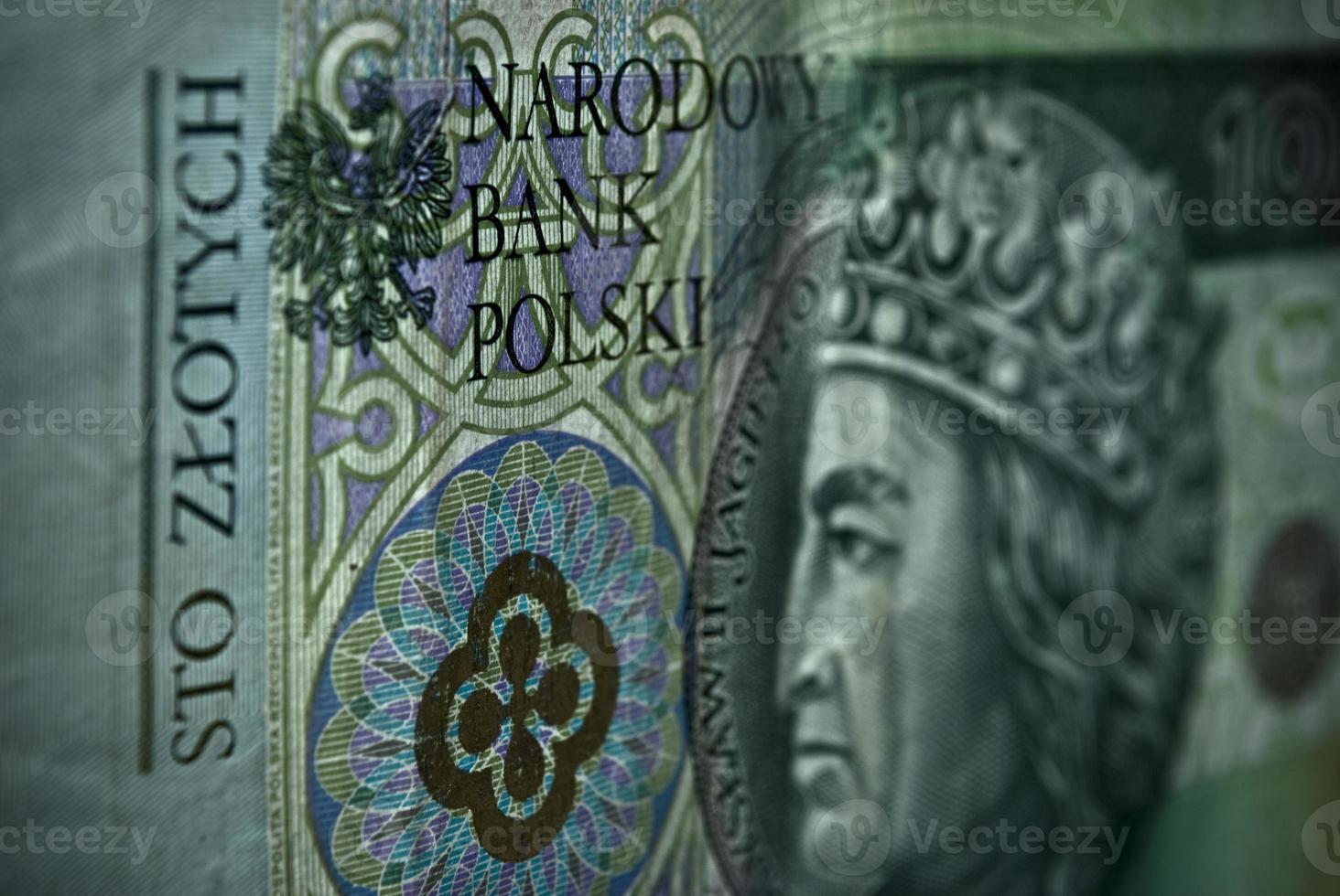 poets papiergeld of bankbiljetten op foto