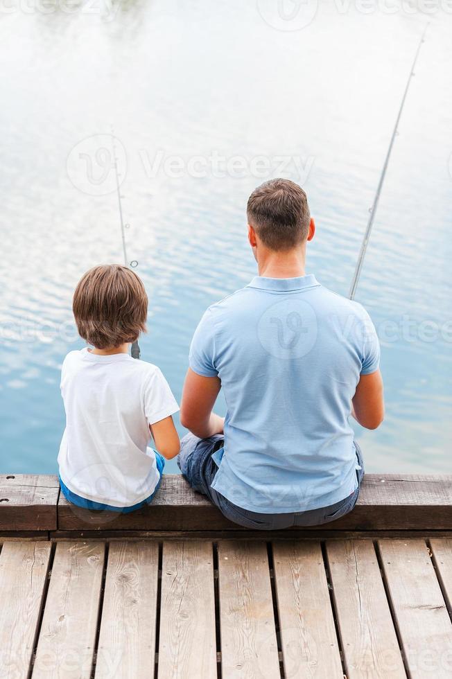 goede dag om te vissen. foto