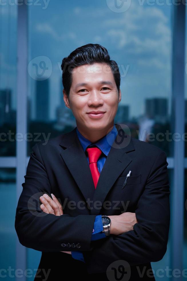 lachende Vietnamese ondernemer foto