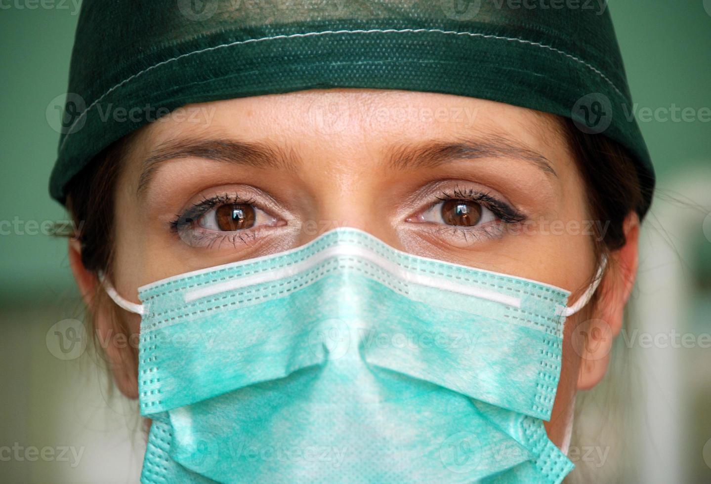 vrouw chirurg close-up foto