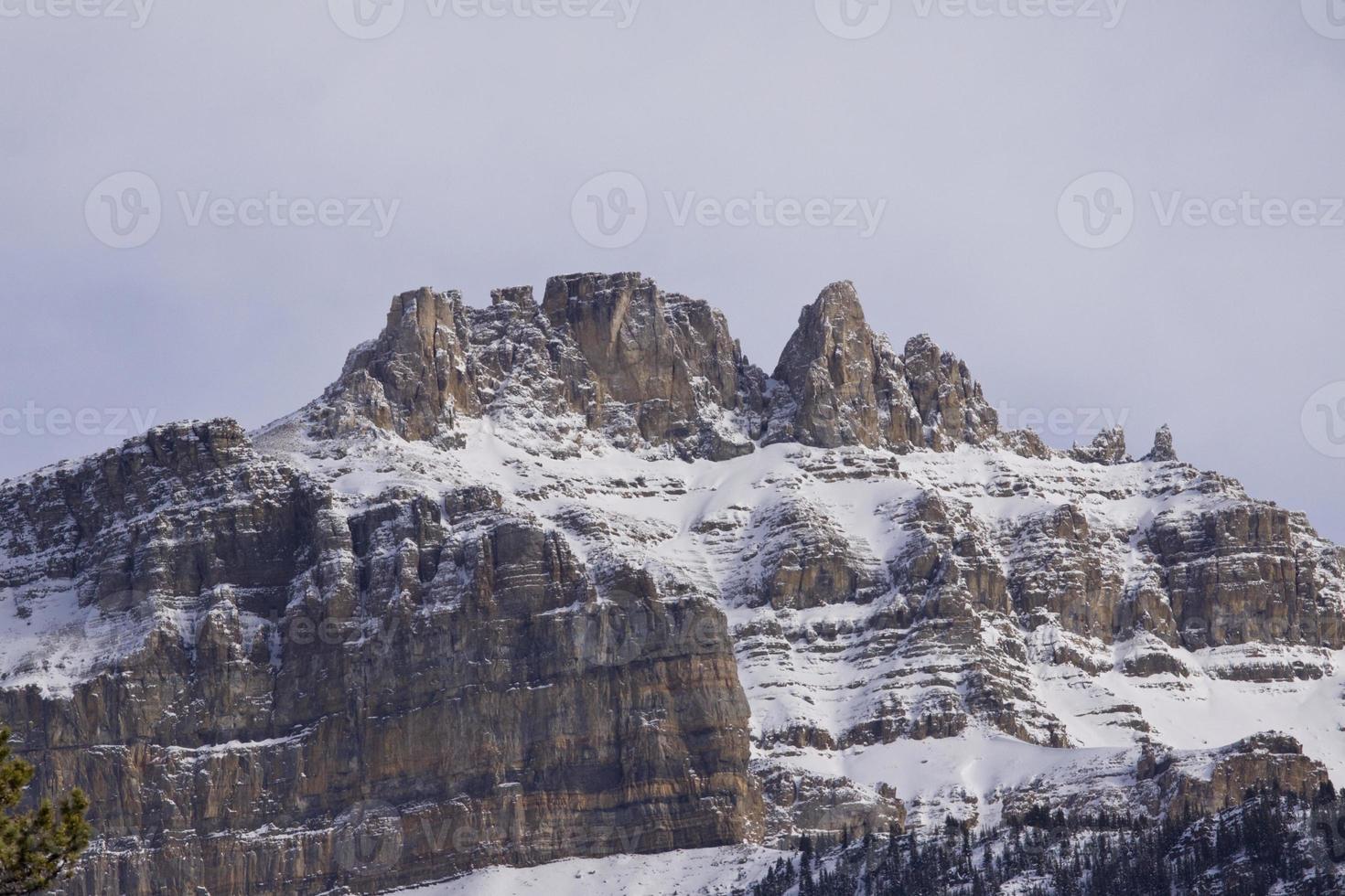 Jasper National Park laat in de herfst landschappen foto