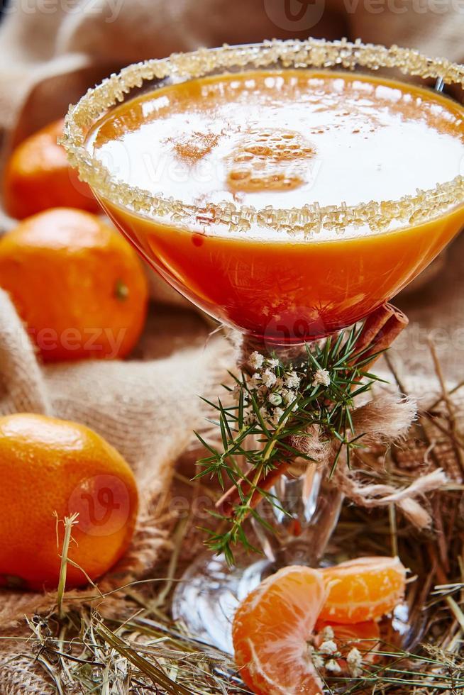 vers sap van rijpe mandarijnen foto
