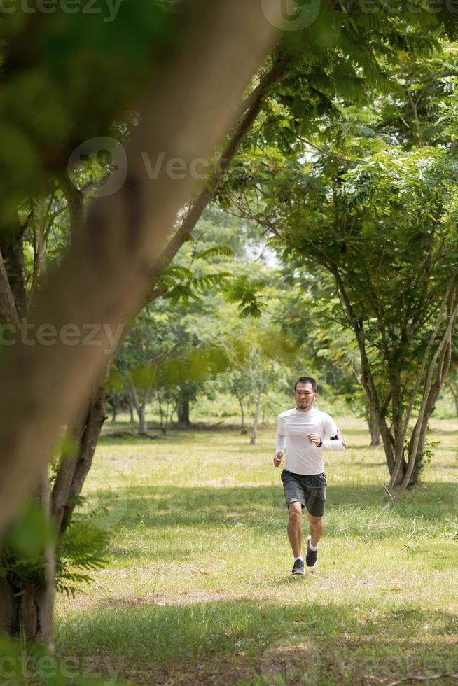joggen in het park foto