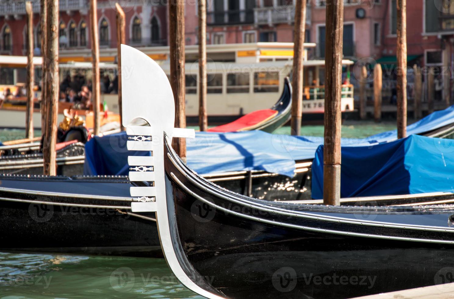 Venetië gondel close-up foto