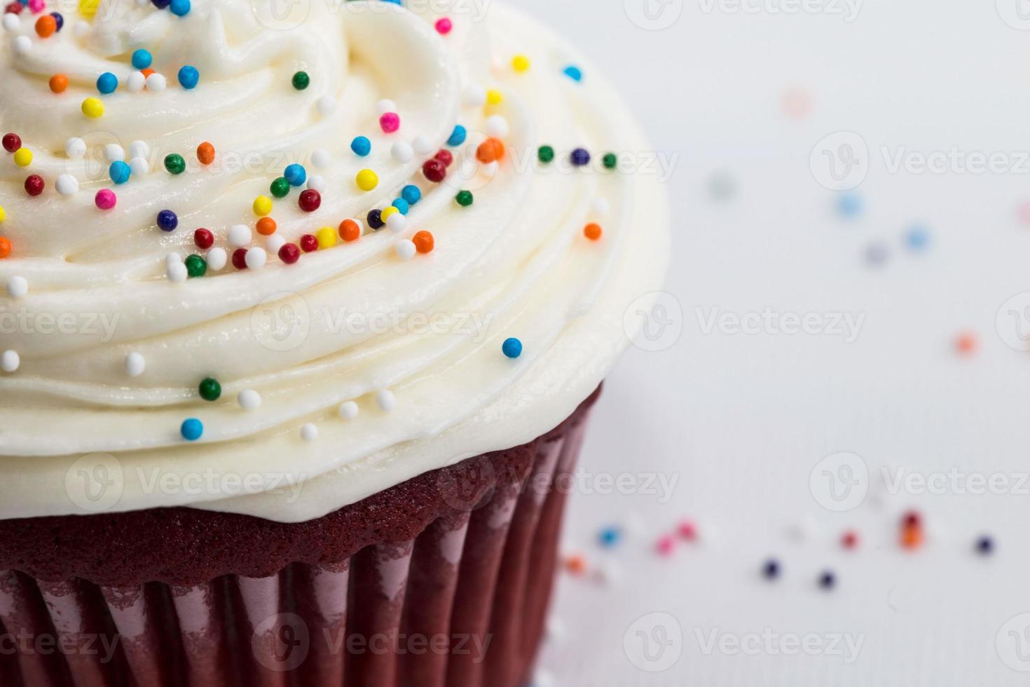 strooi cupcake dicht omhoog foto