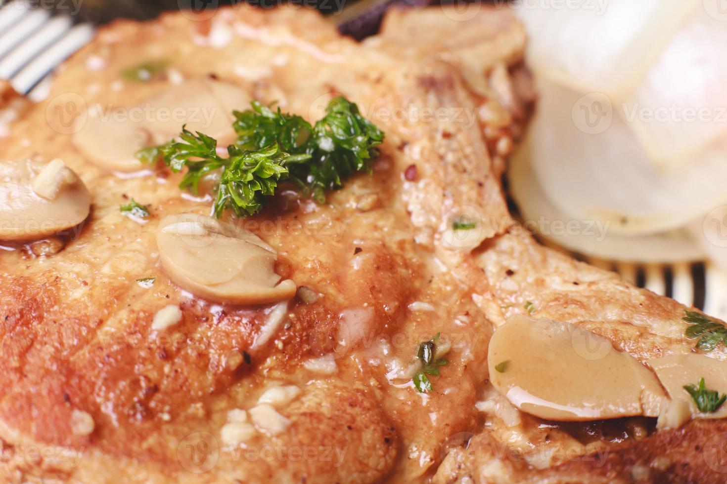 close-up biefstuk foto