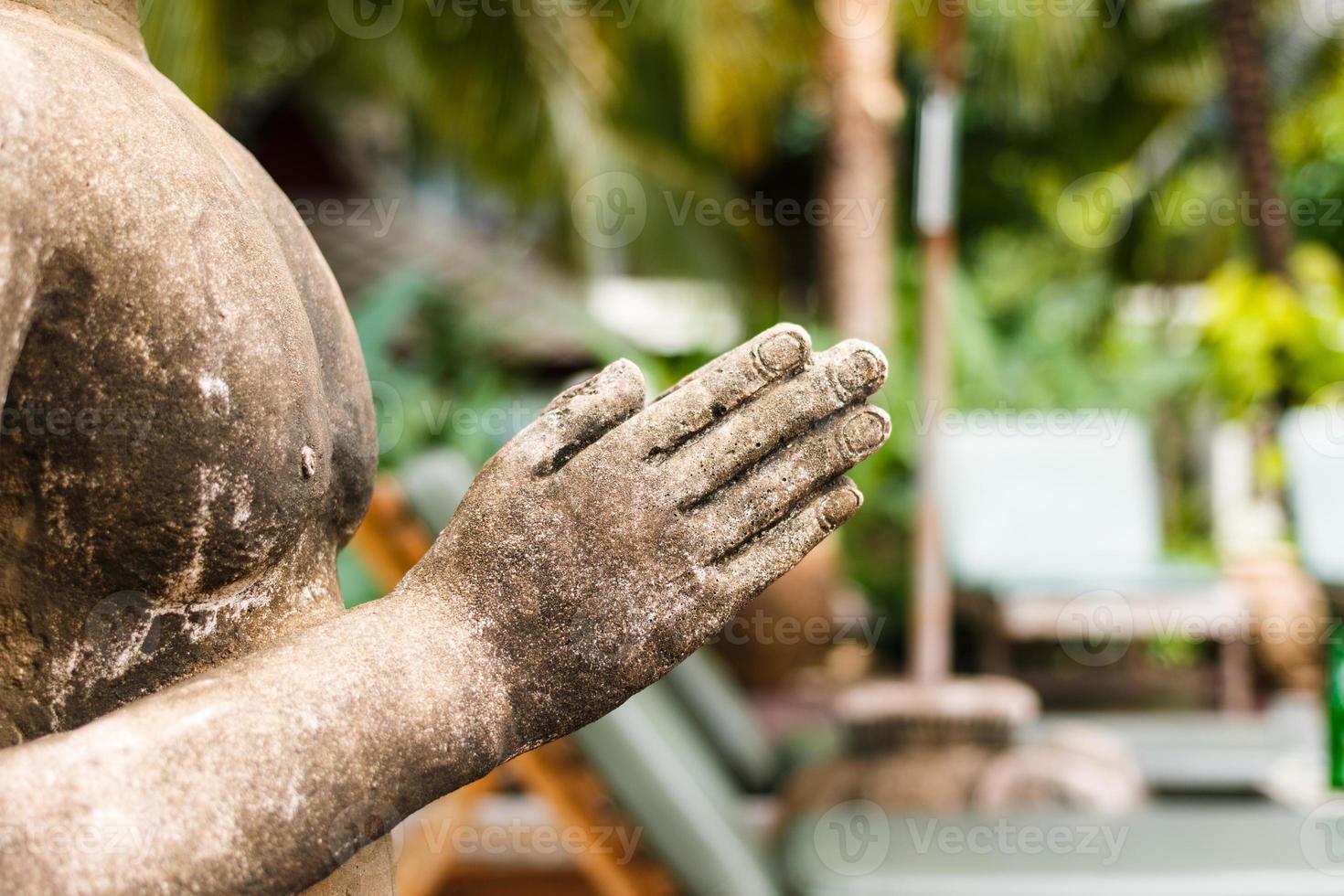 close-up handsculptuur foto