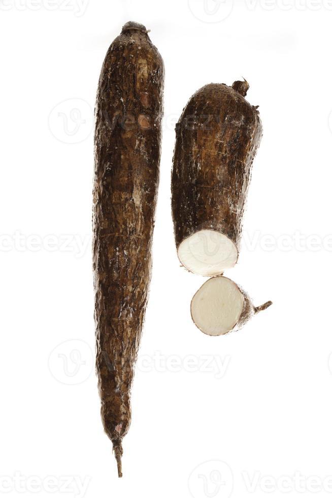 maniokwortels, close-up foto