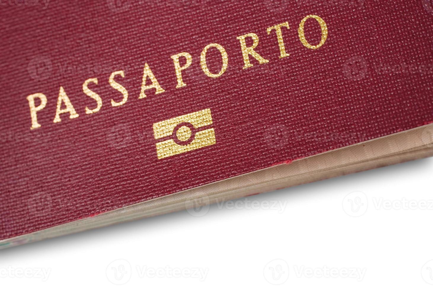 Italiaans paspoort close-up foto