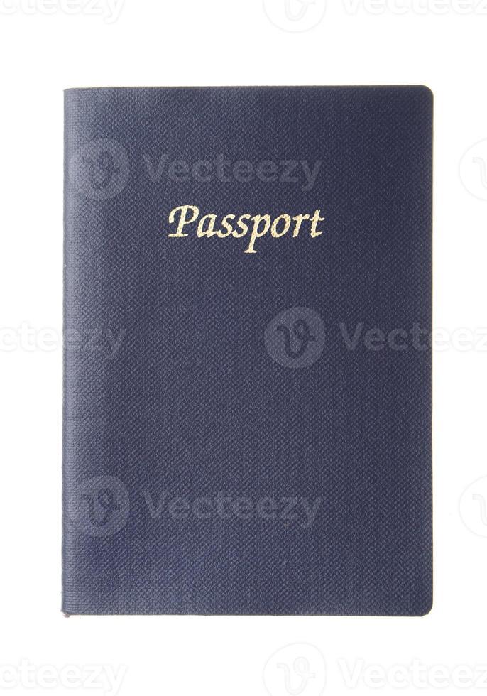 blauw generiek paspoort foto