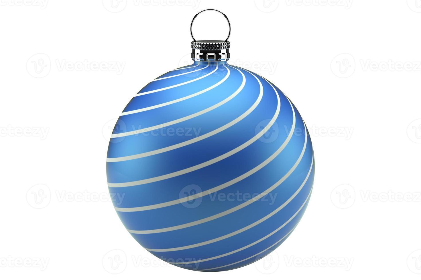 kerstbal blauw foto