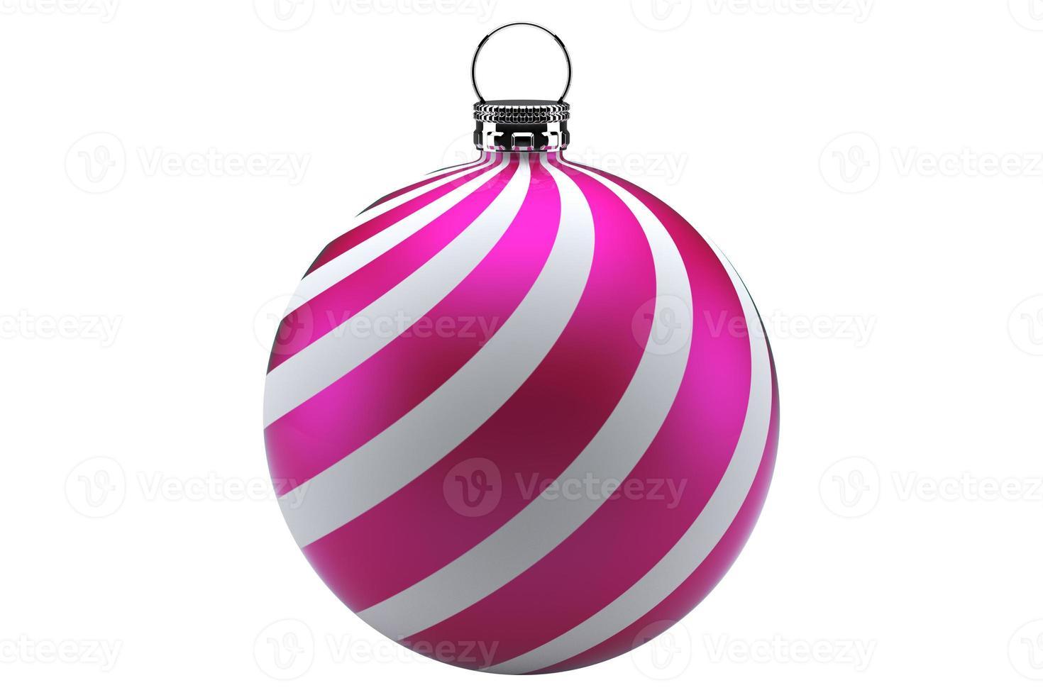 kerstbal roze foto