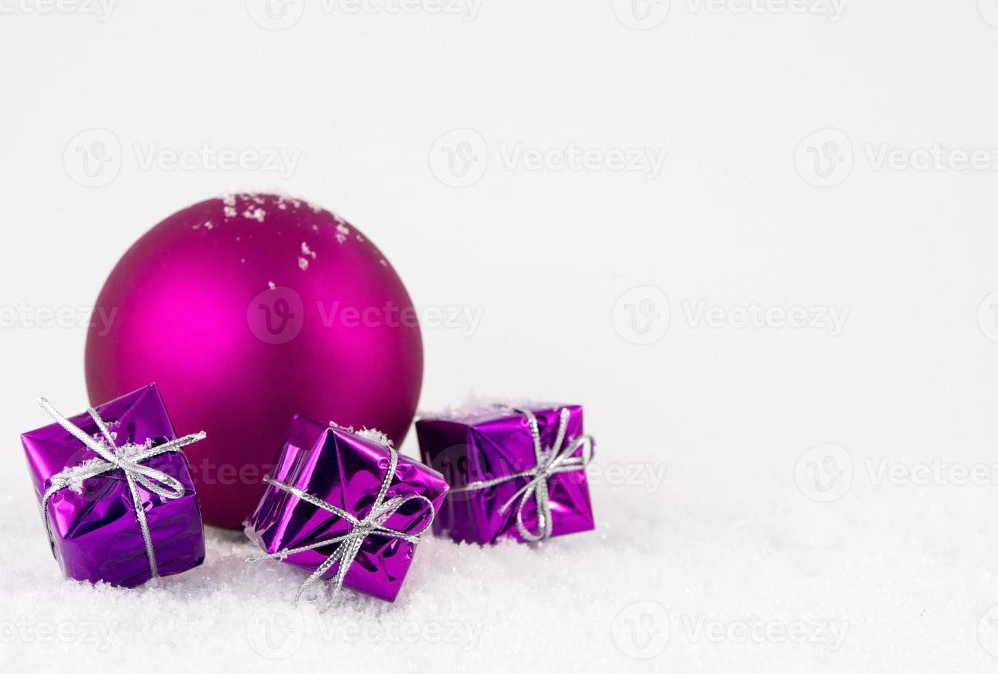 paarse kersttijd foto
