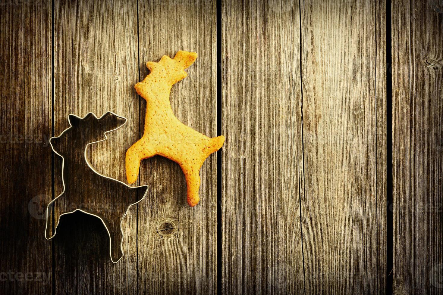 kerst zelfgemaakte peperkoek herten koekje foto