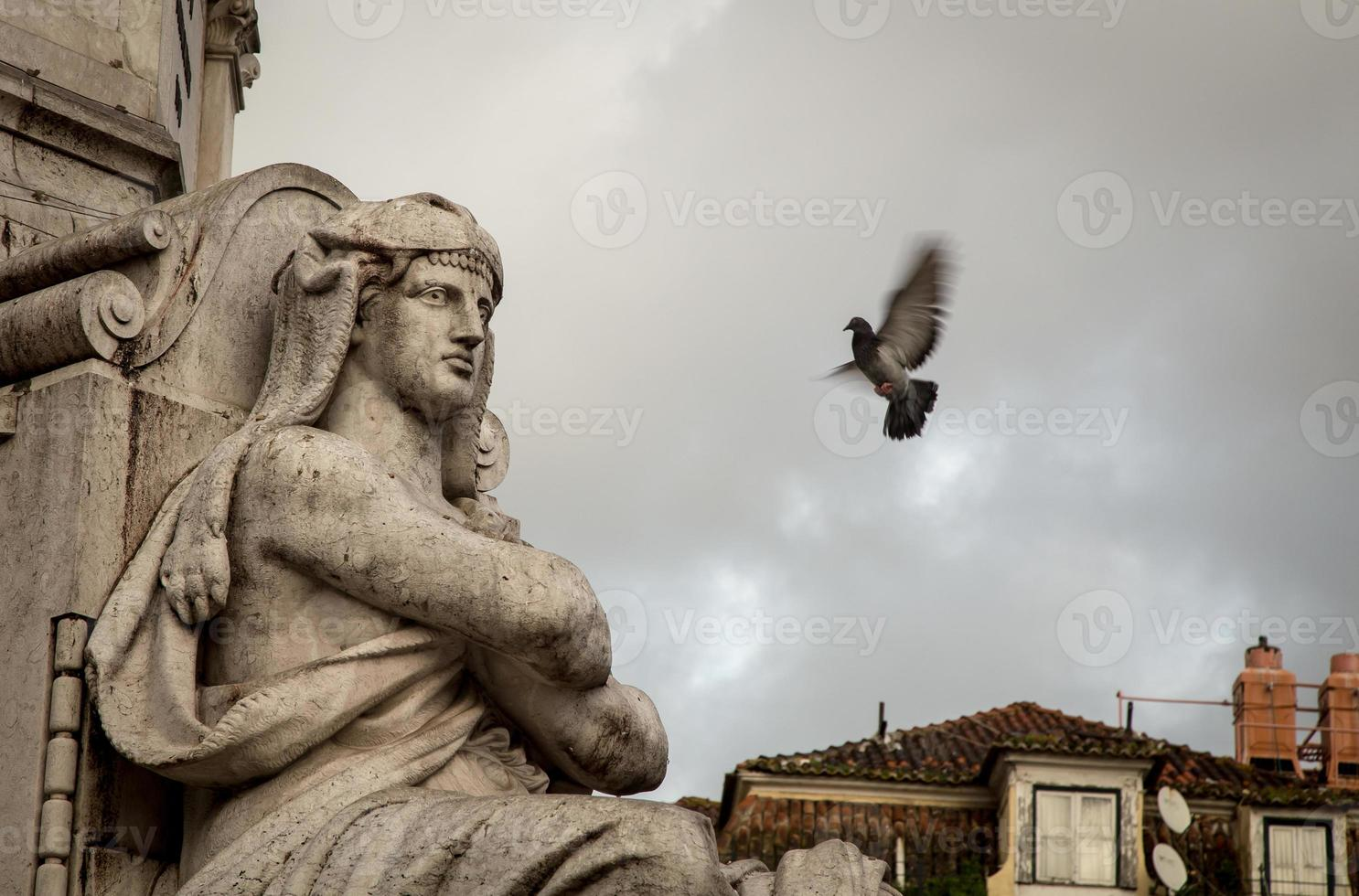 standbeeld in Lissabon foto