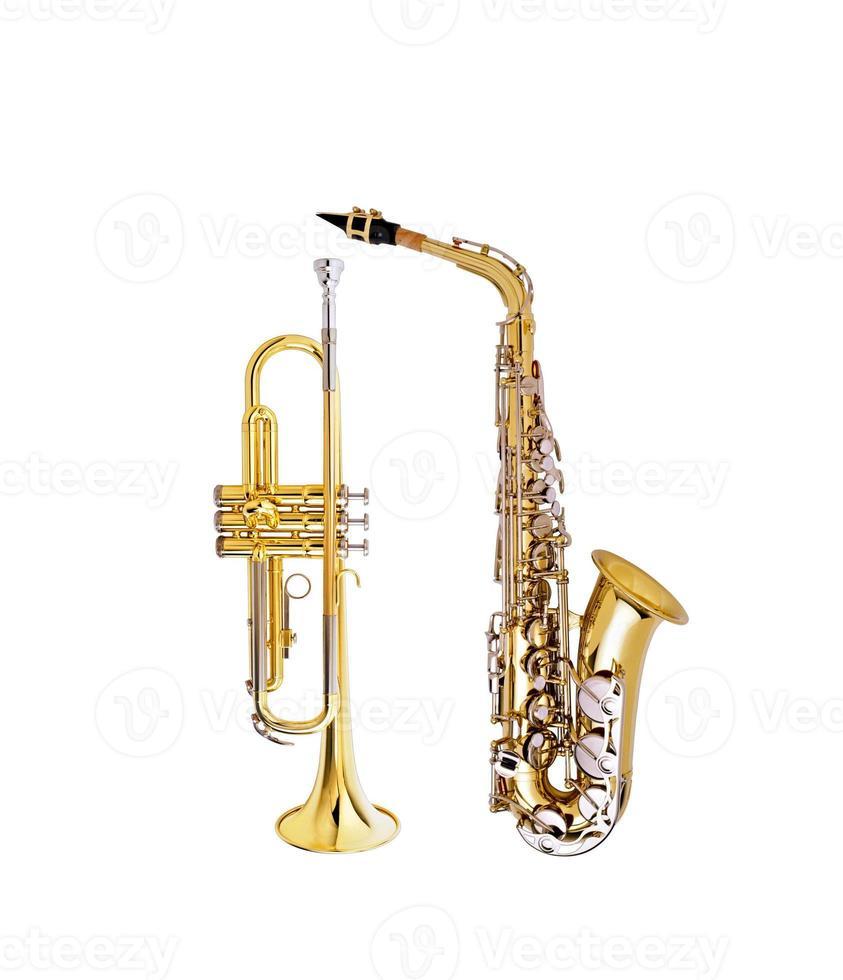 saxofoon en cornet foto