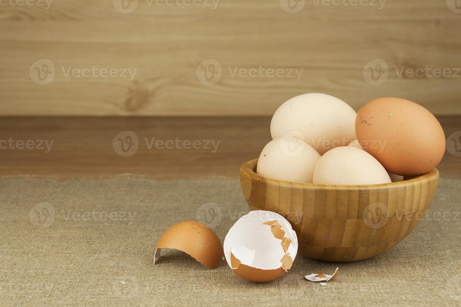 zelfgemaakte kippeneieren. foto